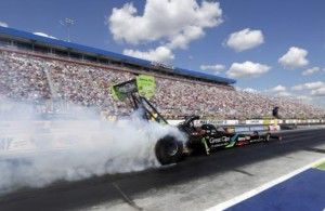 Clay Millican earned the No. 1 qualifying position in Top Fuel heading into Sunday's elimination rounds at the NHRA Carolina Nationals at zMAX Dragway. (CMS/HHP)