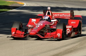 2015 Champion Scott Dixon takes his first laps at Road America in an IndyCar during a test day at the track in preparation for the race there in 2016. [John Wiedemann Photo]