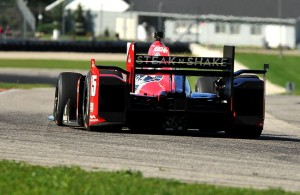 Graham Rahal races through turn seven at Road America during a test day to prepare for the 2016 event. [John Wiedemann Photo]