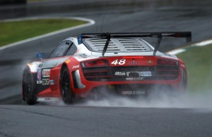 Audi R8 LMS in the wet. [Photo by Jack Webster]