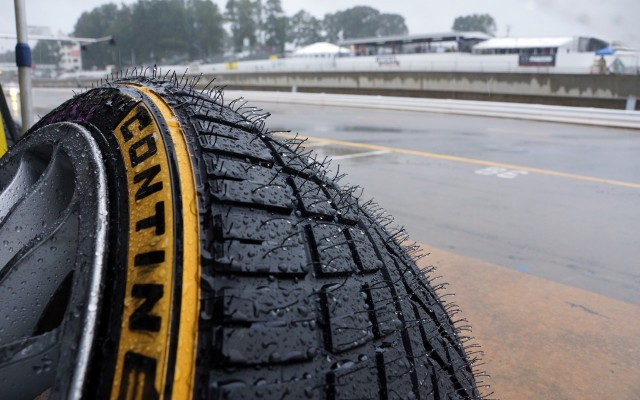Lots of rain tires were used at Petit Le Mans this year.  [Photo by Jack Webster]