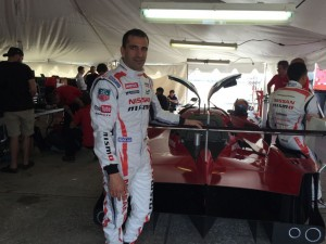 Driver Marc Gene with the Nissan LMP at the Sebring test in 2015.  [Photo by Eddie LePine]