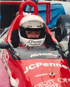 In 1992, Lyn St. James finished 11th and won the Indianapolis 500 Rookie of the Year award.  [Photo courtesy of the Indianapolis Motor Speedway]