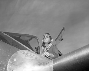 From the Lockheed archive comes this awesome shot of Ray during his stint as a flight test control officer for the company in late 1944. He would eventually become the third military test pilot to certify on the P-80 Shooting Star, America's first operational jet fighter. Photo courtesy of the author, Andrew Layton
