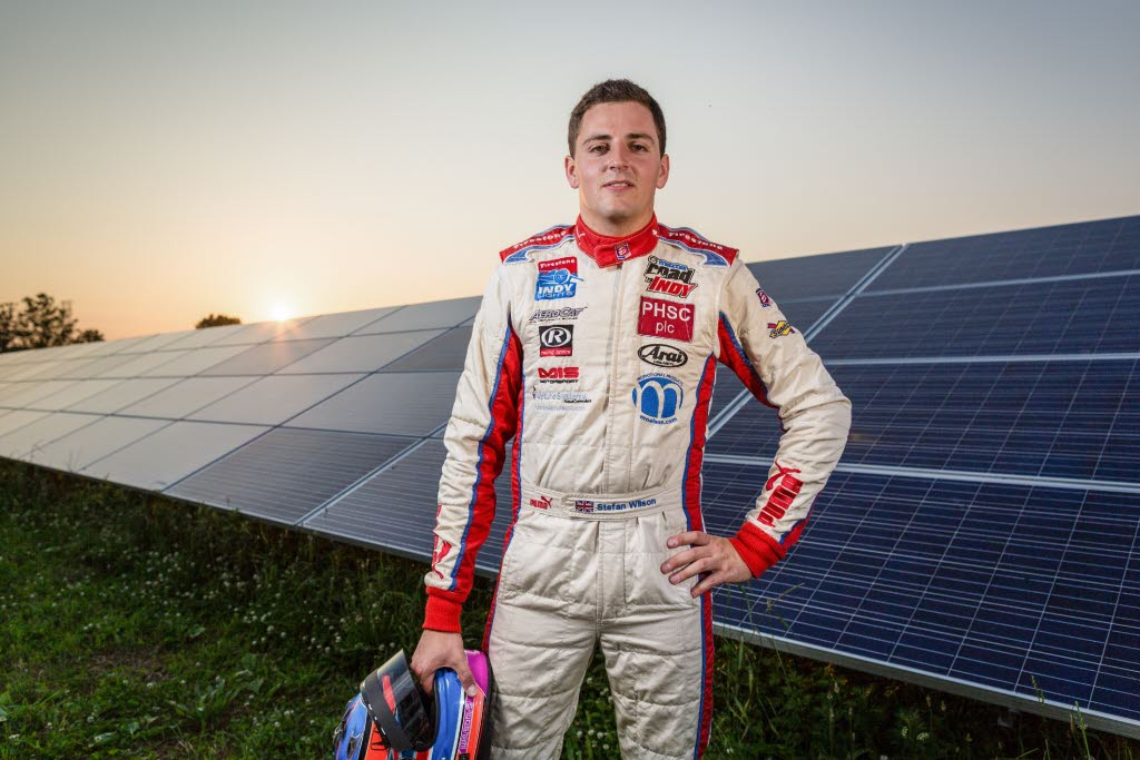 Stefan Wilson brings new sponsor American Solar Energy Society to IndyCar. [photo courtesy stefanwilson.co]