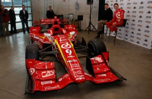 Scott Dixon unveils his car featuring a throwback livery for the 2016 Verizon IndyCar Series season. [Photo by: Joe Skibinski]