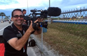 Apprentice French TV photographer - me. [Eddie LePine photo]