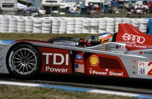 Mike Rockenfeller in the Audi R10 at Sebring. [Photo by Jack Webster]