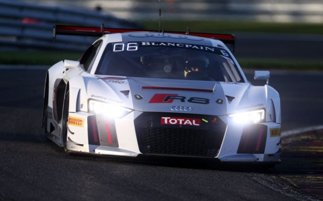 Mike Rockenfeller in the Audi R8 LMS.  [Photo by Audi Motorsport]