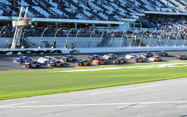The start of the ARCA Lucas Oil 200 driven by General Tire at the Daytona International Speedway.  [Russ Lake Photo]