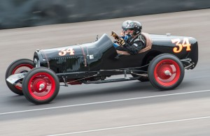 Tony Parella, President & CEO of the SVRA, driving his '34 Chevrolet Big Car. [photo courtesy SVRA/Impact Safety Systems]