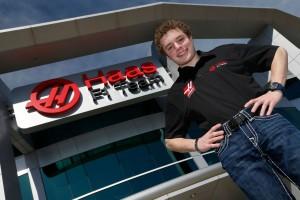 Santino Ferrucci, Haas F1 Team development driver. [photo courtesy Haas F1 Team]