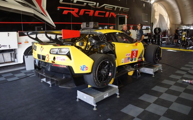 Corvette C7.R in the Corvette paddock.  [Photo by Jack Webster]