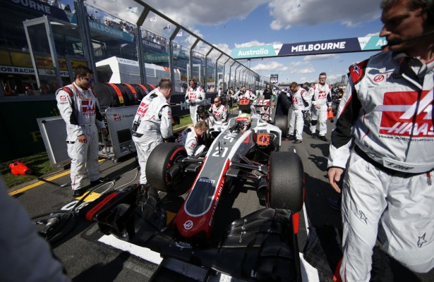 Scene from the grid of the Australian Grand Prix in Melbourne.  [Credit: Haas F1 Team]