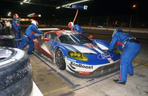 Night pit stop for the Ford GT. [Photo by Jack Webster]