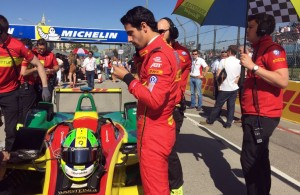 On the grid with Lucas Di Grassi. [Eddie Le Pine Photo]