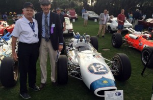Jim McGee and Ray Evernham with the Brawner Hawk at Amelia Island. [Eddie LePine Photo]
