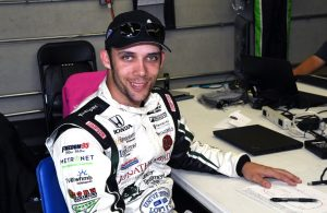 Bryan Clauson in the garage at Indianapolis. [Russ Lake Photo]