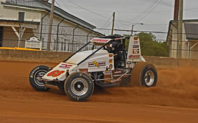 Kody Swanson shown in action during Hoosier 100.  [Joe Jennings Photo]
