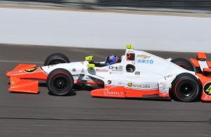 Buddy Lazier during final practice for the 2016 Indianapolis 500. [John Wiedemann Photo]