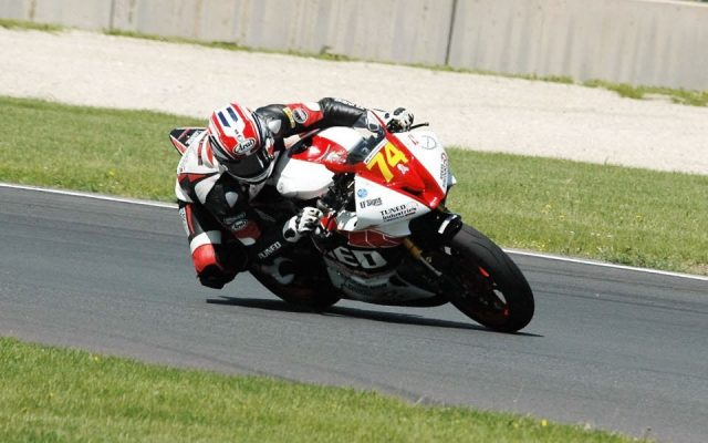 #74 Bryce Prince in Turn #14 during the running of the Supersport/Superstock 600 Race 2.  [Dave Jensen Photo]