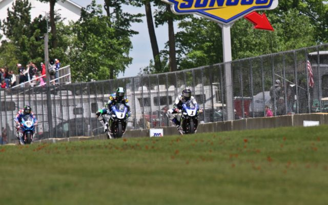2 wheel action at Road America.  [Jon Kanter Photo]