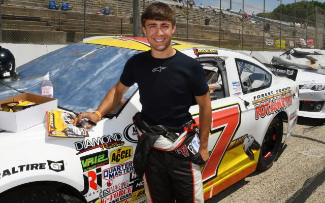 Wisconsin's Ty Majeski started 2nd and finished fourth in the ARCA race at Madison.  [Russ Lake Photo]