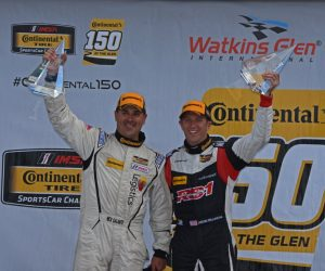 ST class winners Nick Galante and Spencer Pumpelly all smiles in victory lane.  [Joe Jennings Photo]