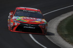 Kyle Busch ran away from the field for most of the Brickyard 400. [John Wiedemann Photo]