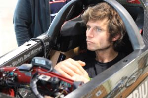 Guy Martin will attempt to break the land speed record. [Photo courtesy Triumph Motorcycles]