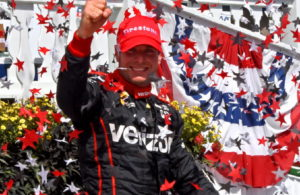 Winner Will Power gives victory salute. [Joe Jennings Photo]