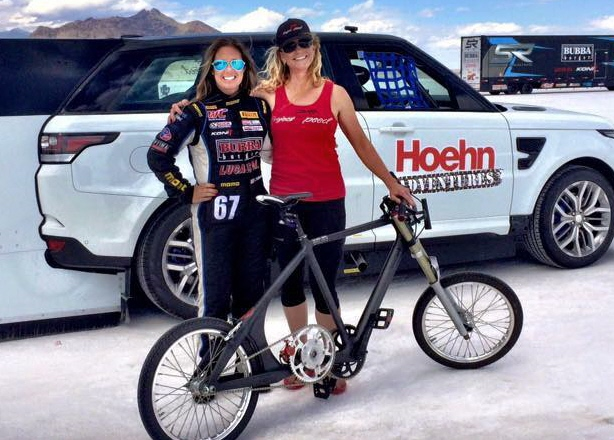 a580fd958f9 Two Women Work Together For World Bicycle Speed Record Attempt ...