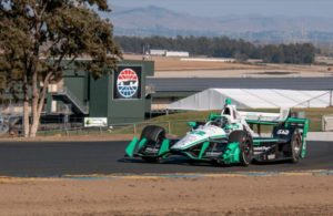 Simon Pagenaud exits Turn 2 during the open test at Sonoma Raceway. [Photo by: Mike Finnegan]