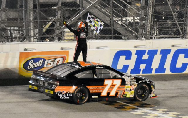 Chase Briscoe celebrates with the Checkers.  [Kim Kemperman Photo]