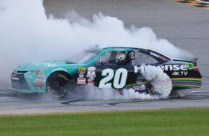 Erik Jones does a winning Burn out. [Kim Kemperman Photo]