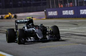 Nico Rosberg on his way to winning the Grand Prix of Singapore. [photo by Sutton Images]