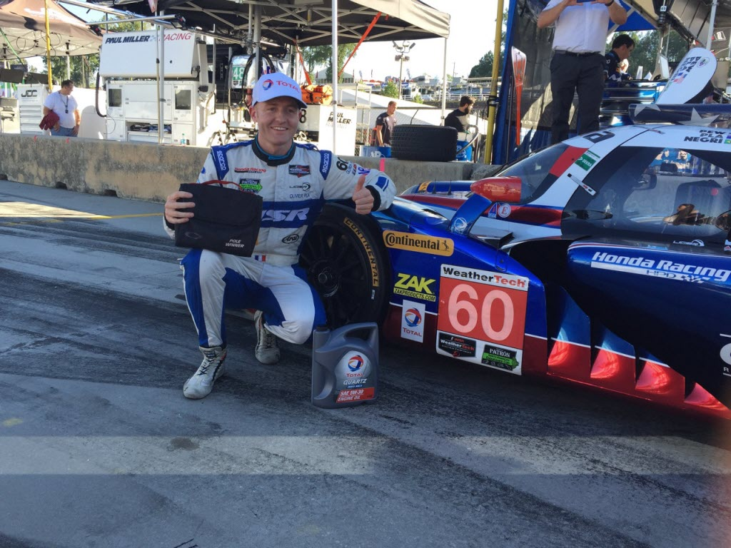 Pole sitter for the Petit Le Mans at Road Atlanta, Olivier Pla. [Photo by Eddie LePine]