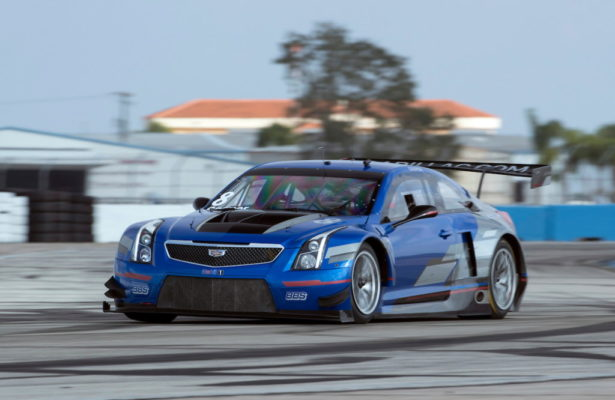 Michael Cooper's Vector Blue No. 8 Cadillac ATS-V.R that he will drive in his second Pirelli World Challenge season. [Richard Prince/Cadillac Photo]