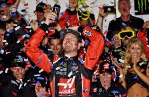 Victory lane celebration for Kurt Busch winner of the Daytona 500. [Kim Kemperman Photo]