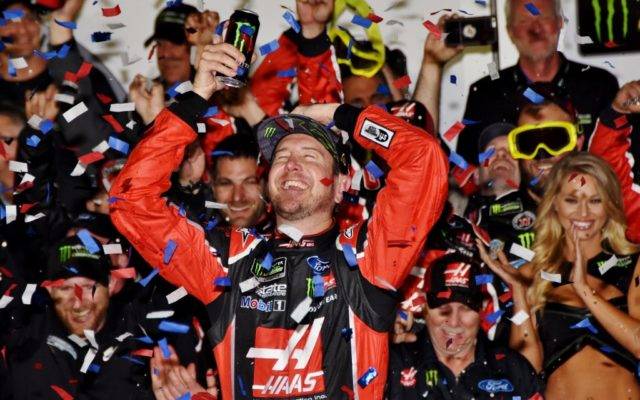 Victory lane celebration for Kurt Busch winner of the Daytona 500.  [Kim Kemperman Photo]