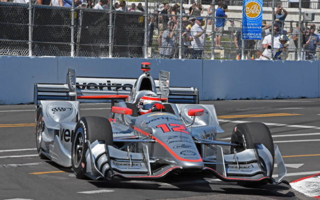 Will Power races through turn 11, scene of his 2016 crash.  [Joe Jennings Photo]