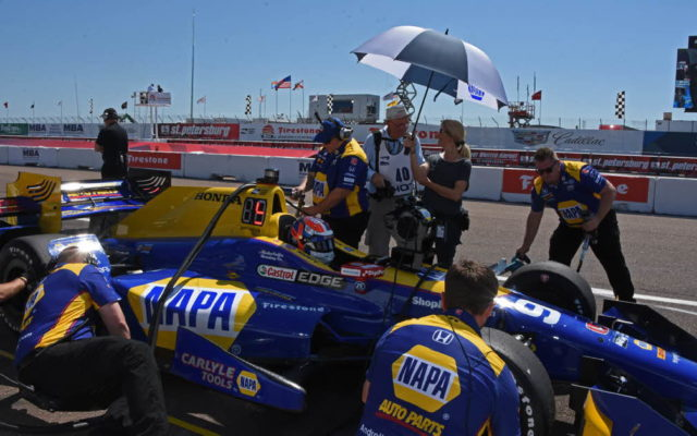 Alexander Rossi returns with his Indianapolis 500 winning NAPA colors.  [Joe Jennings Photo]