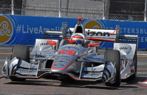 Verizon P1 pole winner Will Power flashes through his nemesis corner - turn 10. [Joe Jennings Photo]