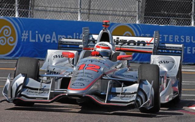 Verizon P1 pole winner Will Power flashes through his nemesis corner – turn 10.  [Joe Jennings Photo]