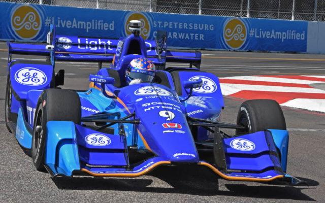 Second fast qualifier Scott Dixon shown speeding through turn 10.  [Joe Jennings Photo]