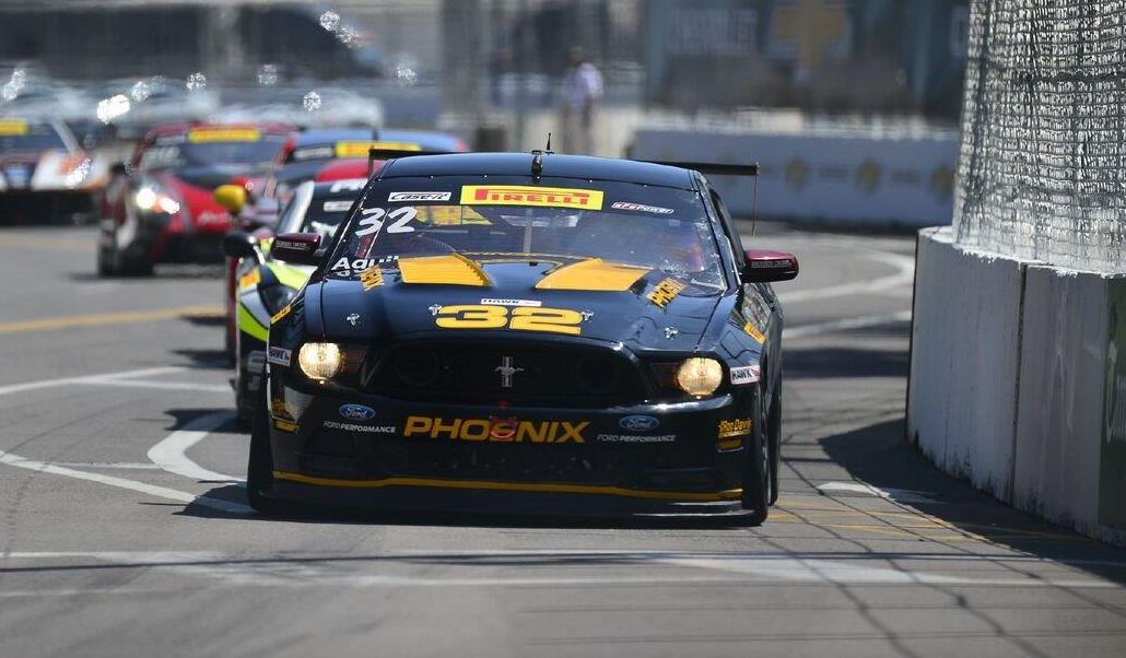 Andrew Aquilante drove his Ford Mustang to the Pirelli World Challenge GTS Round 1 win. [Pirelli World Challenge photo]