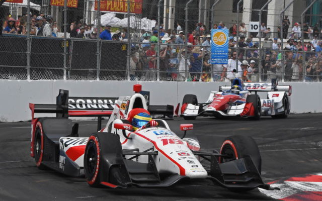 Winner Sebastien Bourdais cruises through turn 10.  [Joe Jennings Photo]