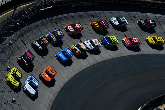 Two by two at Bristol Motor Speedway. [Credit: Robert Laberge/Getty Images]