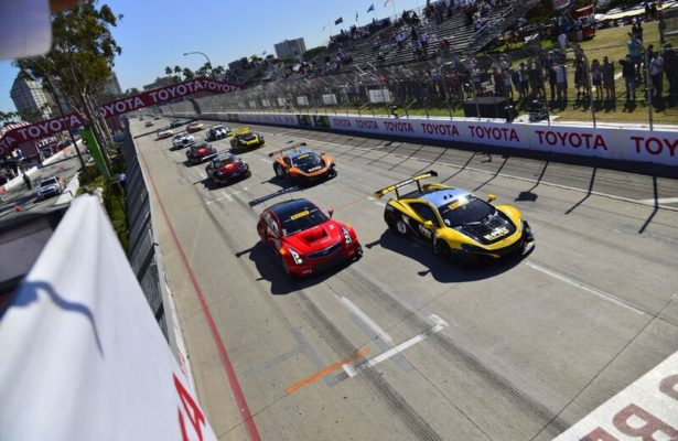 GT Start of the Long Beach Grand Prix in 2016. [photo courtesy Pirelli World Challenge]