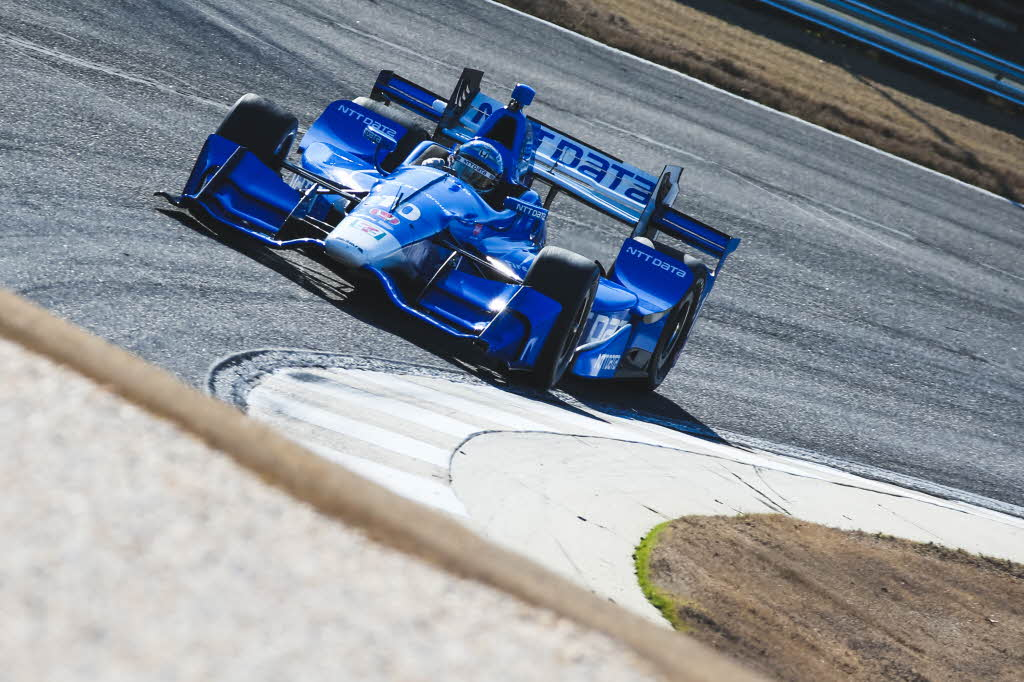 Tony Kanaan on course during the open test at Barber Motorsports Park. [Photo by: Joe Skibinski]